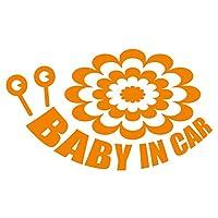 imoninn BABY in car ステッカー 【シンプル版】 No.27 デンデンムシさん (オレンジ色)