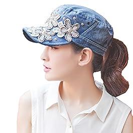 Yimidear Chapeau Femme ete Respirant Casquette de Baseball Coton Casquette de Golf pour Fonctionnement,Pêche,Golf…