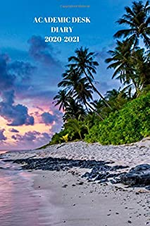 ACADEMIC DESK DIARY 2020-2021: A5 Diary Starts 1 August 2020 Until 31 July 2021. Tropical ocean.Paperback With Soft Water ...