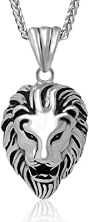 ATDMEI Star of David Hairdresser Football Lion Camera Necklace Stainless Steel Jewelry With Gifts Box