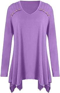 Women Autumn Blouse Winter Loose Long Sleeve Button Plus Size Tops Blouse T-Shirts ❤️ ZYEE,S-5XL