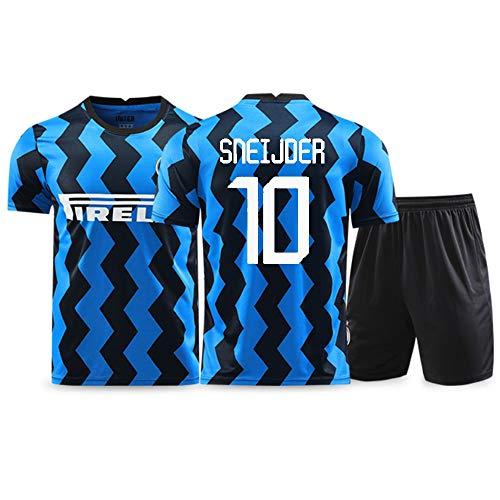 XH Herren Fußbälle Trikot -Set Training Wear Wesley Sneijder # 10, alle Größen Kinder und Erwachsene (Color : A, Size : Adults-L)