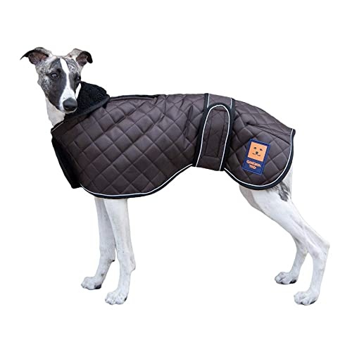 Lurchers and Whippets for dogs Dog Jacket Adjustable Lightweight Raincoat with Reflective Straps and Harness Hole Best Gift for Greyhounds XS Pink