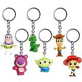 INTVN 6PCS Llavero Nueva película Toy Story 4 Llavero Juguetes niños Juguetes Adultos Regalos Llavero Cabeza Coche Bolsa llaveros encantos joyería