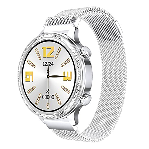 ZGLXZ Smart Watch Women Touch Full Touch Impermeable Sphygmomanómetro para Android iOS Femenino Ritmo Cardíaco Fitness Tracker H58,B