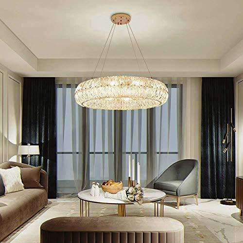 Hanglamp Postmodern Licht Kristal Glas Kroonluchter Ring Hoogwaardige Atmosfeer Italiaanse Villa Woonkamer Eetkamer Slaapkamer Lampen Diameter 60 * 19CM