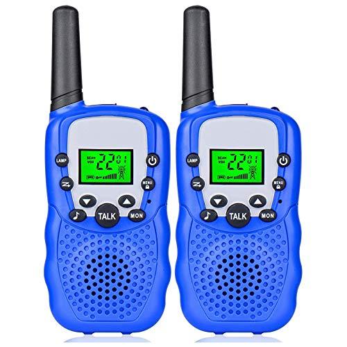 QCHEA Walkie Talkies for Kids, 2 Pack 22 Channel 2 Way Radio 3 Mile Long Range Kids Toys & Handheld Kids Walkie Talkies, Los Mejores Juguetes para Boys Girls Edad 3-12