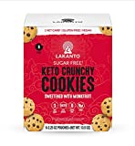 Lakanto Keto Crunchy Cookies - Mini Chocolate Chip Cookies, Sugar Free, Sweetened with Monk fruit, Vegan, Gluten Free, Keto Diet Friendly, 1 Net Carb, Cocoa Butter, Snack (2.25 oz - Pack of 6)