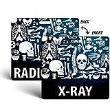 X-Ray/Radiology Badge Buddy - Black - Skeleton Themed - Radiology Horizontal Badge Id Card - by BadgeZoo