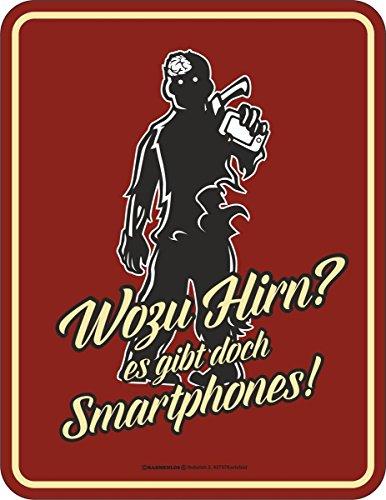 RAHMENLOS Original Targa in metallo wozu Hirn? Ci sono smartphone!