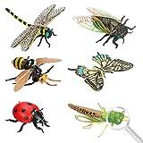 Achort 6pcs Insectos e Insectos de plástico para niños Figuras de Insectos Juguetes Figuras de Insectos Plásticos Kits para educación/Juguetes de Halloween/Fiestas temáticas/Regalos cumpleaños