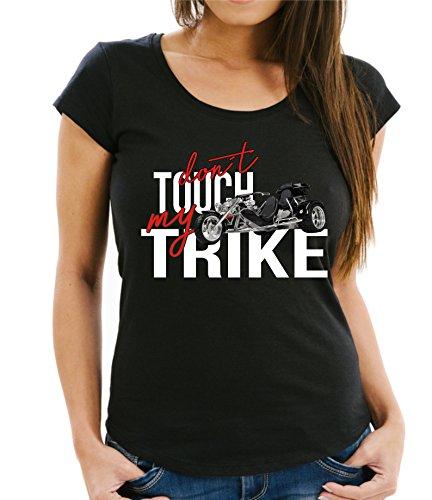 Siviwonder Women T-Shirt - Trike Dreirad - Dont Touch My - Motorrad Fun schwarz XXL - 42