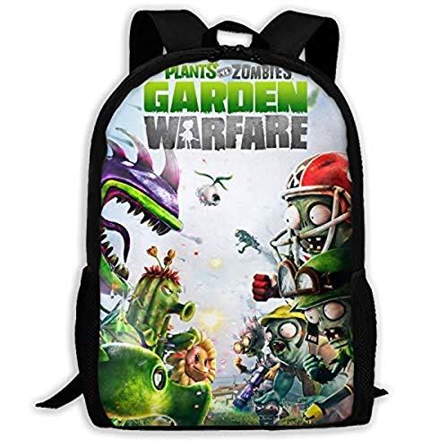 Plant Vs Zombie - Mochila para adultos, niños, mochila de viaje, mochila para ordenador portátil, niños (plant-3,28 x 14 x 40 cm)