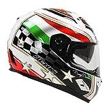 Casco moto Vetroresina Street Moto Touring Moto Racing Racing Caschi integrali-Italia, L