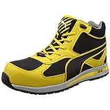 [プーマセーフティー] 安全靴 作業靴 フルツイスト ミッドカット JSAA A種認定 先芯合成樹脂 衝撃吸収 IDセル搭載 メンズ イエロー 26.5cm