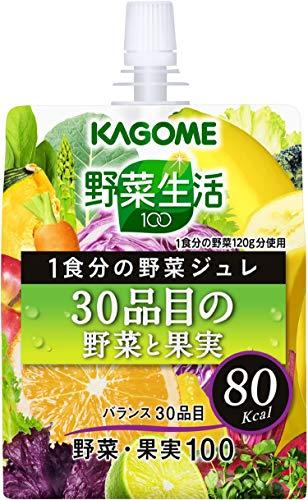 カゴメ 野菜生活100 ジュレ 30品目の野菜と果実 180g×30本