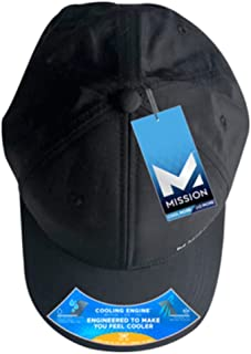 MISSION Vented Cooling Performance Hat- Unisex Baseball Cap, Cools When Wet