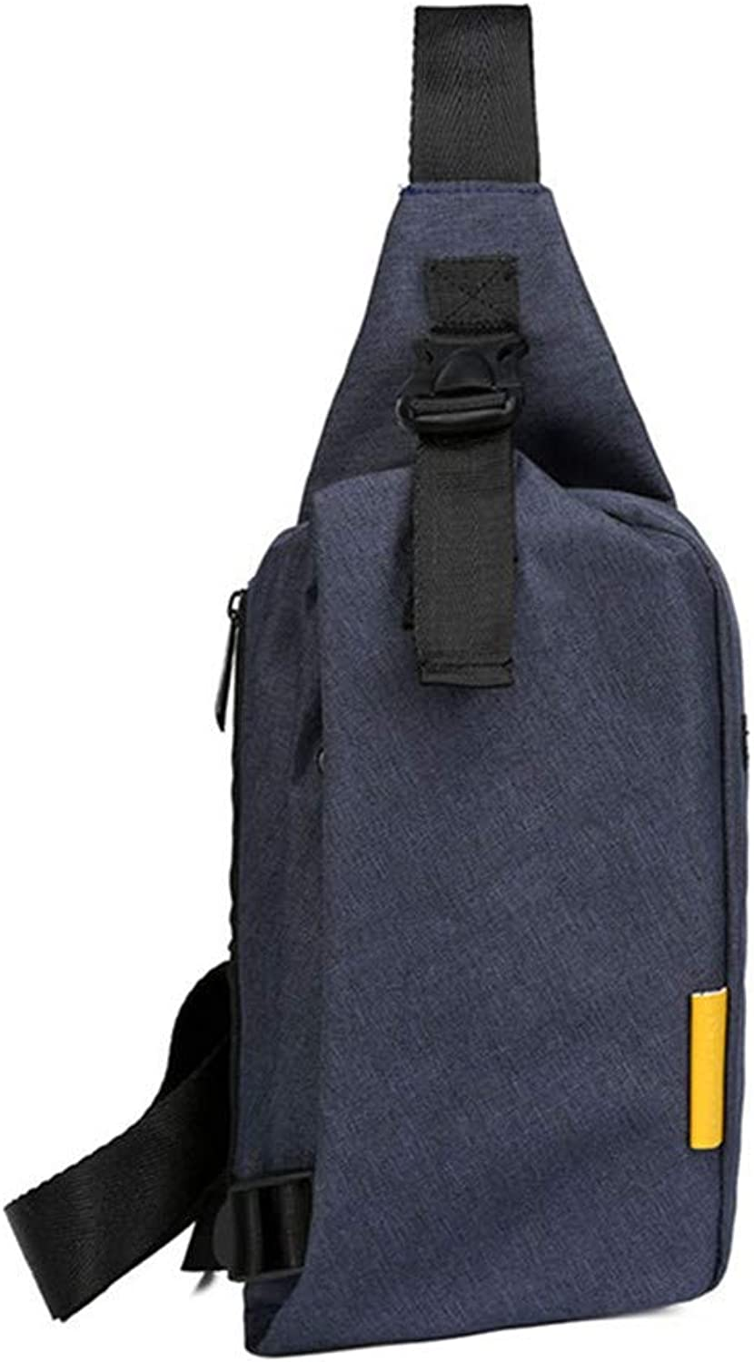 Small Chest Bag Female Korean Casual Travel Shoulder Bag Men Outdoor Sports Messenger Bag Canvas Bag Accurate Seams and Enhanced Craftsmanship Make it More Durable and Stronger,blueee
