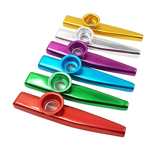 Metal Kazoo Instrumentos musicales 6 colores diferentes aleaci/ón de aluminio metal Kazoo Kids Set Un buen compa/ñero para guitarra ukelele piano teclado gran regalo de Navidad viol/ín