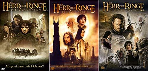 Der Herr der Ringe Trilogie alle 3 Teile mit umfangreichem Bonusmaterial Teil 1+2+3 [6 DVD Set]