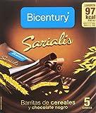 Bicentury - Sarialis - Barritas de cereales y chocolate negro - 100 g 5 barritas