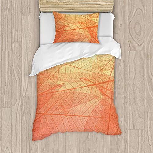 Juego de ropa de cama para niña, funda de almohada de 50 x 80 cm, funda nórdica de 135 x 200 cm, 129% algodón
