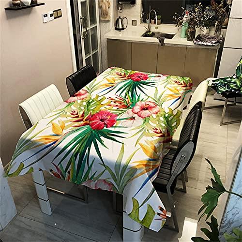 Mantel Rectangular Antiincrustante Poliéster Impermeable Engrosamiento Patrón De Flores Mantel Impreso Mantel De Mesa De Centro para El Hogar Mantel De Cocina Mantel Cuadrado De Hotel 140x140cm