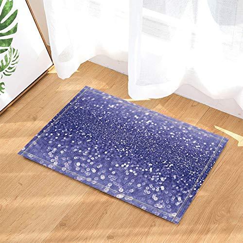 GAOFENFFR El Panel de la Cortina de la Lentejuela Azul de la decoración de la Navidad para Las alfombras de baño...