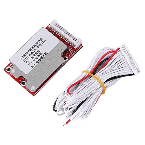 Batterieschutzkarte, 13S 48V / 54,6V Lithium-Polymer-Lithium-Ionen-Batteriepack-Schutzkarte BMS-Zellschutzkarte PCB
