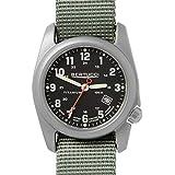 BERTUCCI A-2T Classic Field Watch Black/Ti-Drab Band 12723