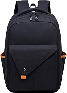 CHENDX Handbags Men and Women Fashion Large Capacity Outdoor Travel Leisure Backpack Computer Bag Multi-Layer Zipper Waterproof Backpack (Color : Black, Size : 42cm*29cm*11cm)