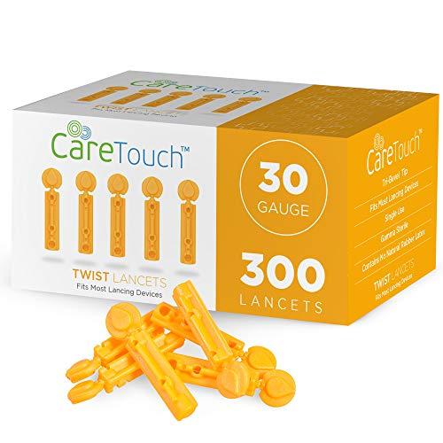 Care Touch Twist Top Lancets 30 Gauge, 300 Lancets
