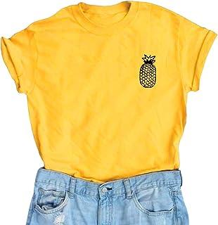 YITAN Women Cute Graphic T Shirts Teen Girls Funny Tops