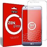 nandu I ZenGlass Protector de Vidrio Flexible Compatible con LG X CAM I Protector de Pantalla 9H