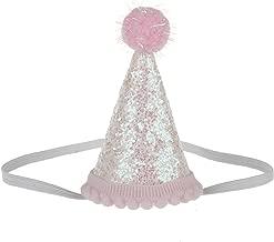 BAOBAO Baby Girl Boy Birthday Party Sequin Crown Hat Headband Mini Hat Photo Prop