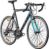 Galano Rennrad 700c Giro D'Italia Fahrrad 28' Fitnessbike Road Bike 14 Gänge (schwarz/blau, 56 cm)