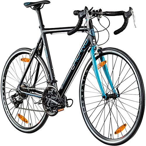 "Galano Rennrad 700c Giro D\'Italia Fahrrad 28\"" Fitnessbike Road Bike 14 Gänge (schwarz/blau, 56 cm)"