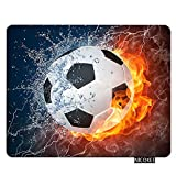 Nicokee Sport Gaming Mousepad Cool Soccer Ball Art,Amazing Football Pattern Mouse Pad Rectangle Mouse Mat for Computer Desk Laptop Office 9.5 X 7.9 Inch Non-Slip Rubber