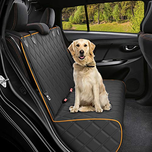 Active Pets Bench Dog Car Seat Cover for Back Seat, Waterproof Dog Seat Covers for Cars, Durable Scratch Proof Nonslip, Protector for Pet Fur & Mud, Washable Backseat Dog Cover for Cars Trucks & SUVs