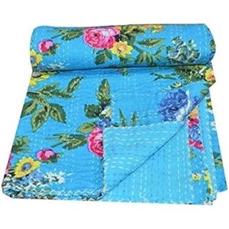 Home Decorative kantha Quilt mukat Print Kantha Quilt Blanket Bed Cover Kantha bedspread Bohemian Bedding Kantha