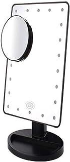 Makeup Mirror Makeup Mirror مرآة الغرور مع أضواء LED شاشة تعمل باللمس عكس الضوء 10X مكبرة بقعة المرايا 180 دوارة دوران الت...