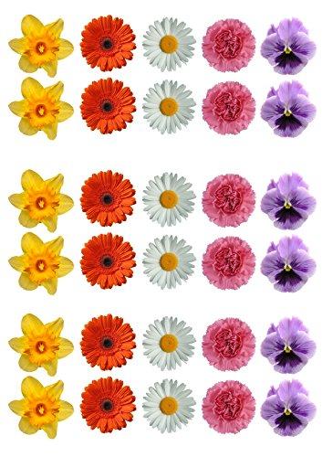 Top That–Lote de 30, selección de flores decoración de pastele