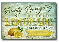 フレッシュスクイズアイスレモネード壁すずマーク更新8×12インチカフェバーショップ壁装飾レトロマーク