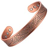 MagEnergy Copper Bracelet for Men Life of Tree Magnetic Therapy Bracelet Viking Jewelry 7.5inches Adjustable