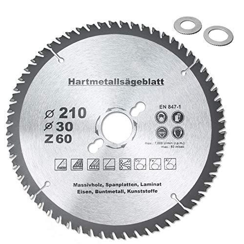 HM - Hoja de sierra circular universal (120 mm de diámetro, 160 mm de diámetro, 185 mm de diámetro, 190 mm de diámetro, 210 mm de diámetro)