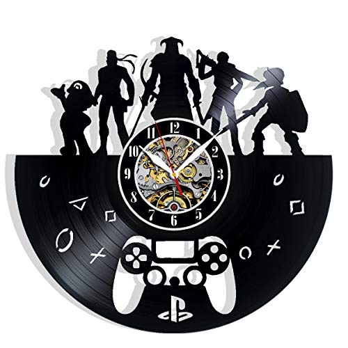 Game Console Player Gamer Play Stations Vinyl Record Wall Clock Art Home Decor Interior Design Best Gift for Fans Room Wall Art