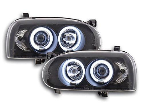 FK Zubehörscheinwerfer Autoscheinwerfer Ersatzscheinwerfer Frontlampen Frontscheinwerfer Scheinwerfer Angel Eyes FKFSVW14001
