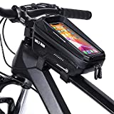 CHICLEW Bolsa de Movil Bicicleta Manillar, Bolsa para Bicicleta Cuadro Impermeable de Montaña, Táctil de Tubo Superior Delantero, para Teléfono Inteligente por Debajo de 6,7 Pulgadas