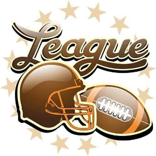 American Football League Rugby Sport Hochwertigen Auto-Autoaufkleber 12 x 12 cm