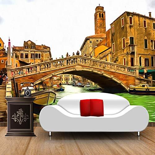 Foto de papel tapiz personalizado, paisaje de Venecia para la pared del fondo de la sala de estar TV
